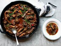 Jewish Chicken Foot Fricassée with Meatballs