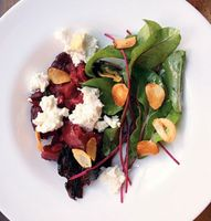 Smashed Beets with Goat Cheese