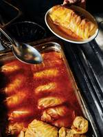 Cabbage Rolls with Beef and Rice