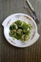 Seared Scallops with Wasabi-Ginger Butter