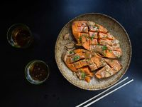 Sweet Potatoes with Miso Butter and Chives