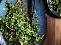 Watercress with Spicy Chile and Sesame Vinaigrette