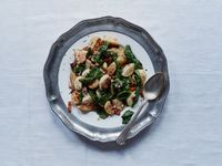 Roasted Turnips and Greens with Bacon Vinaigrette