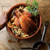 Christian Delouvrier's Roast Chicken with Herbed French Fries