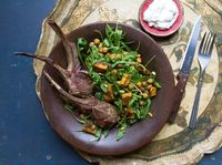 Rack of Lamb with Roasted Pumpkin and Chickpea Salad