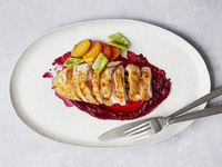 Roasted Guinea Hens with Spring Beets and Runner Beans