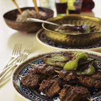 Marinated Grilled Lamb Loin Strips