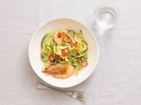 Sautéed Squash and Shrimp with Coconut Milk and Chiles
