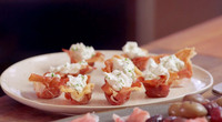 Prosciutto Di Parma Cups with Goat Cheese Mousse