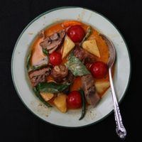 Thai Red Curry with Roasted Duck