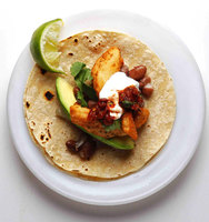 Fish Tacos with Roasted Tomato Salsa