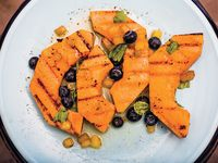 Grilled Cantaloupe with Peach Agrodolce