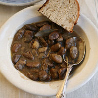 Fava Bean Stew with Garlic, Thyme, and Bay Leaves