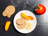 Graham and Brown Sugar Cookies with Hachiya Persimmons and Candied Ginger