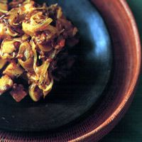 Potatoes with Mustard Seeds and Onions