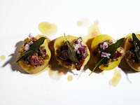 Vinegar-Marinated Potatoes with Olives and Capers