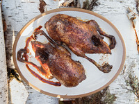 Birch Syrup and Soy Sauce-Glazed Roast Duck