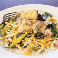Baby Spinach and Stone Crab Salad