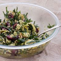 Kale and Chicken Brown Rice Salad with Cherries