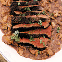 Grilled Elk with Chanterelle Sauce
