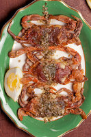 Panfried Softshell Crabs with Garlic-Herb Butter