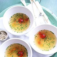Chilled Tomato Consommé