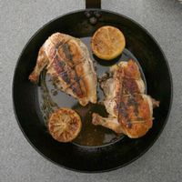 Chicken Breasts Stuffed with Raclette, Herbs, and Prosciutto