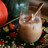 Horchata with Chocolate and Pumpkin Seeds