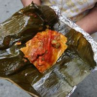 Guatemalan Tamales with Ancho Chile Sauce