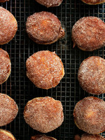 Cinnamon-Sugar Donuts with Chocolate Filling