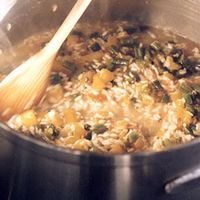 Risotto with Green Beans and Yellow Bell Pepper