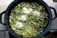 Lima Beans with Eggs and Dill (Baghali Ghatogh)