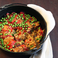 Chicken and Brown Rice with Chorizo