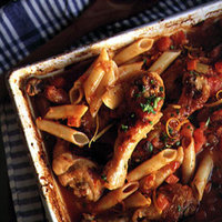 """Chicken """"Osso Buco"""" with Penne"""