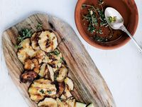 Grilled Shiitake Mushrooms with Chile and Thyme