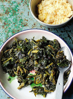 Collard Greens with Onions and Fresh Ginger (Gomen)