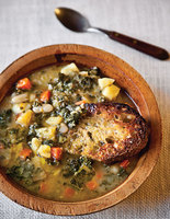 Tuscan Bean Soup with Squash and Kale