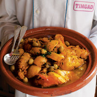 Chicken Tagine with Apricots, Figs, and Olives (Tagine Djaj Bzitoun )