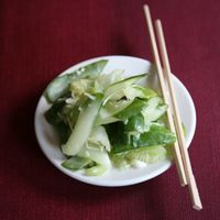 Smashed Cucumbers with Ginger