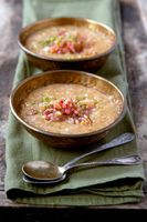 Sweet Brown Rice Pudding with Rhubarb-Ginger Compote