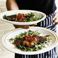 Manzo ai Ferri (Grilled Skirt Steak with Grilled Chiles)