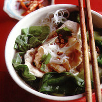 Rice Vermicelli with Chicken Soup