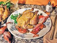 Salt-Baked Cornish Game Hens with Shallots and Orange Sauce