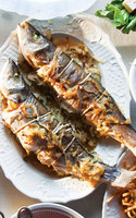 Whole Roasted Branzino with Fennel and Onions