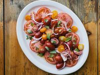Marinated Tomatoes with Mint