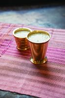 Masala Paal (Steamed Milk with Pistachios and Almonds)