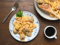 Tomato and Sausage Omelette