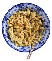 Gemelli with Roasted Garlic and Cauliflower