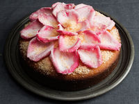 Semolina Coconut Cake with Orange and Rose Water