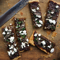 Onion Tart with Goat Cheese